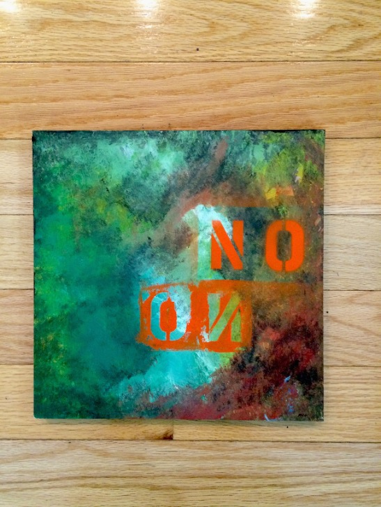 30X30X2CM - Collage & Mixed Media on Wood Panles